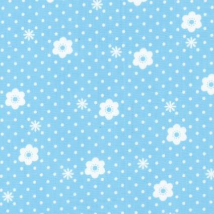 Blue Daisy Dot