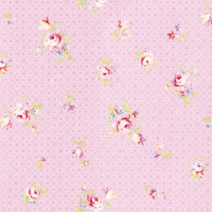 Lecien Rococo & Sweet '19 Small roses on pink