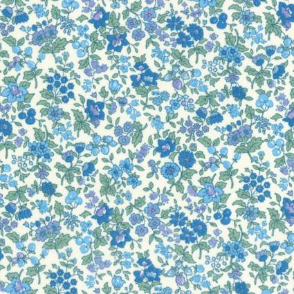 F-CB-LEC-MAP-03  Lecien Corp-MAP - Memoire A Paris '19-03-White w/ Blue&Purple flowers