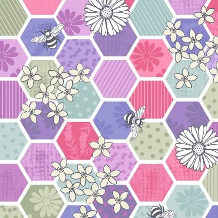 Bee Kind Multi Blue Honeycomb LEIA283-3