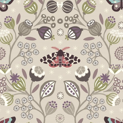 Winter Garden by Lewis and Irene - Light Lilac Butterfly