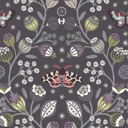 Winter Garden by Lewis and Irene - Dark Purple Butterfly