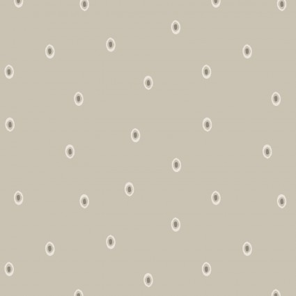 Winter Garden by Lewis and Irene - Taupe with White Dot