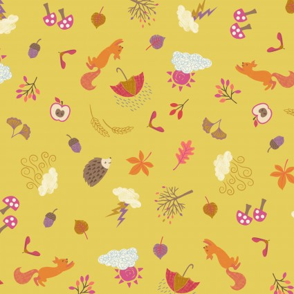 Whatever the Weather - Autumn on Yellow