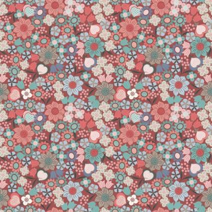Michaelmas by Lewis and Irene - Metallic Rust Flowers