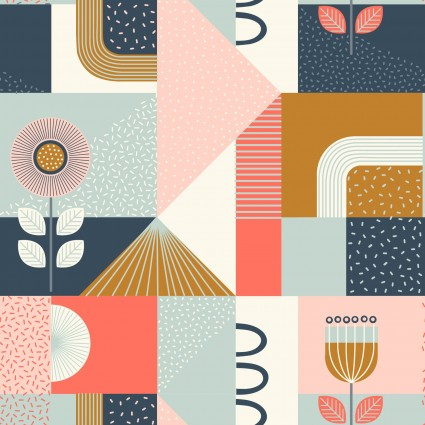 Lewis & Irene Forme Shapes - Navy & Tan