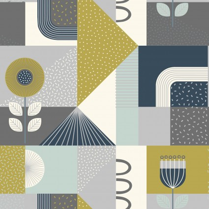 Lewis & Irene Forme Shapes - Greys (0.7m Remnant)