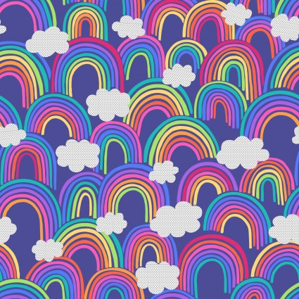 Rainbows by Lewis & Irene - All Over Rainbows in Blue