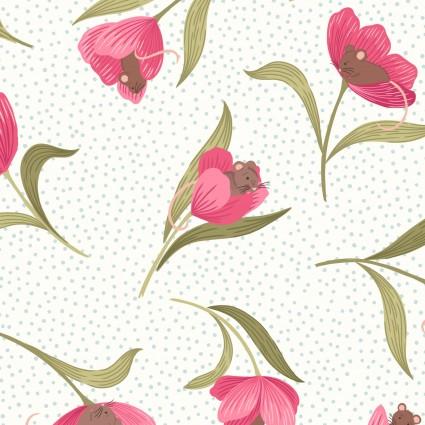 Tulip Fields-Tossed White