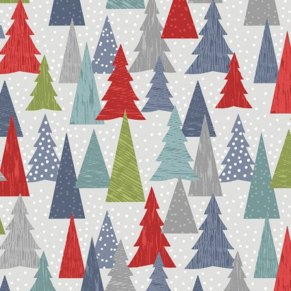 Hygge Christmas Trees on Gray