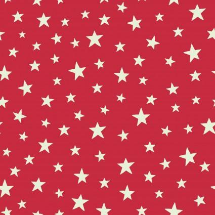 Christmas Glow- C48-2 Red Stars Glow in the dark