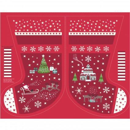 Christmas Glow- Large Red Stocking