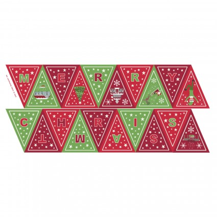 Christmas Glow- Banner Red/Green