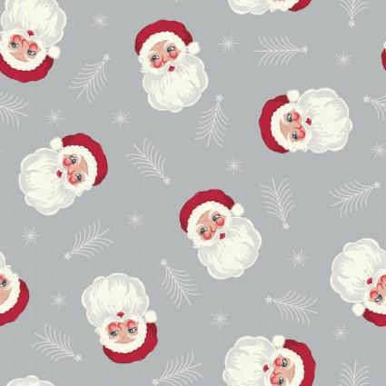 Christmas Trees Santa Gray  C55-1