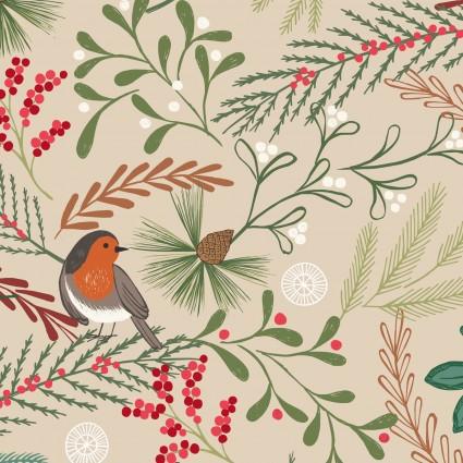 New Forest Winter - C58.1 - Dark Cream Robin