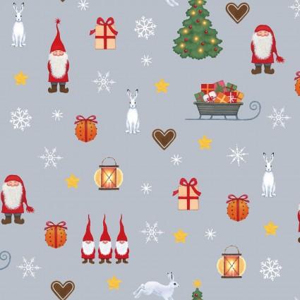 Tomten's Christmas On Gray