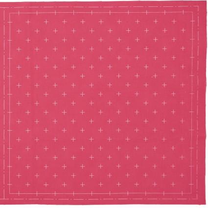 Hidamari Sashiko Pre-Printed Bright Rose Fabric Crosses from Cosmo