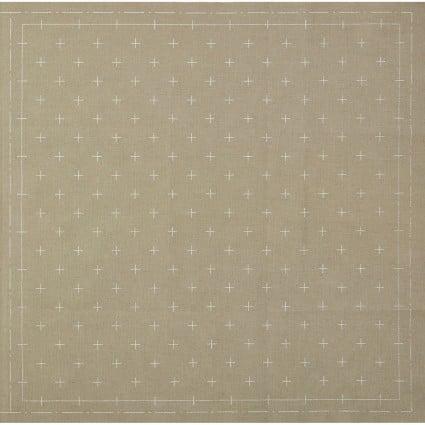Hidamari Sashiko Pre-Printed Grey Fabric Crosses from Cosmo