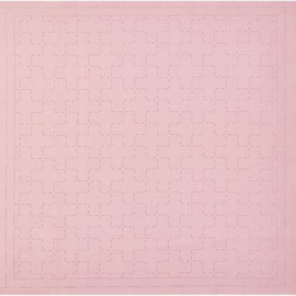 Hidamari Sashiko Pre-Printed Dusty Pink Linked Crosses from Cosmo