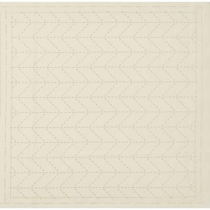 Hidamari Sashiko Pre-Printed Off White Fabric Arrow Feather from Cosmo