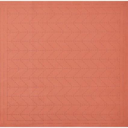 Hidamari Sashiko Pre-Printed Fabric Orange with Arrow Feather Design from Cosmo