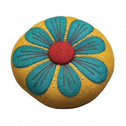 Petals Pincushion Kit: Turq and Gold