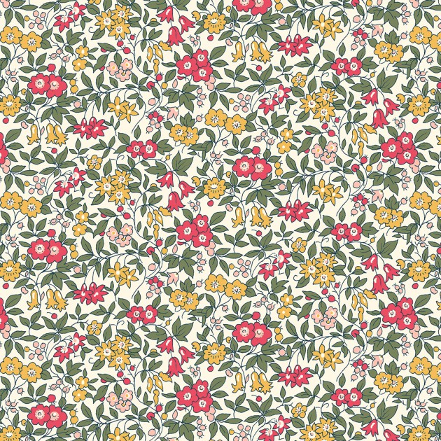 Liberty of London Cottage Garden Red/Gold Floral