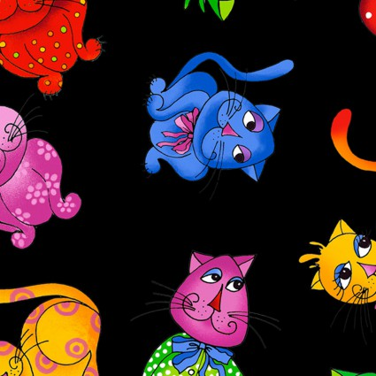 Loralie Designs Tossed Cool Cats