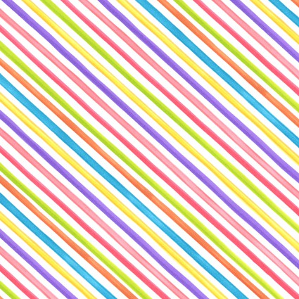 Loralie Quirky Bias Stripe White