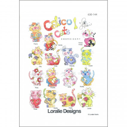 Calico Cats 1  Embroidery CD