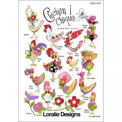 Chicken Chique 1 Embroidery CD