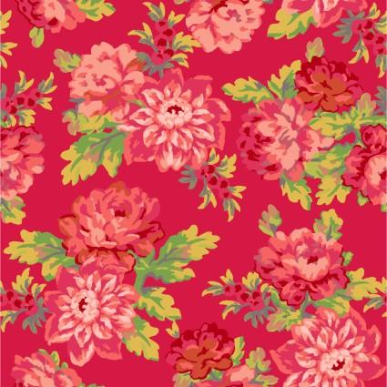 Sweet Beginnings Focal Floral Red