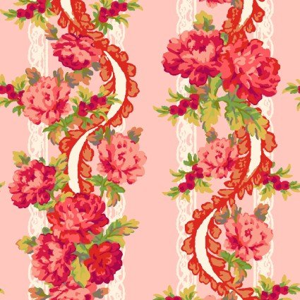 Sweet Beginnings Floral Stripe Pink
