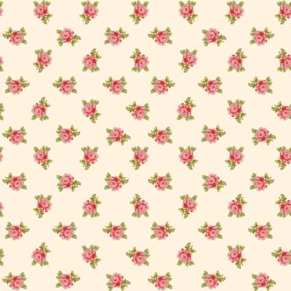 Sweet Beginnings Spaced Floral Cream