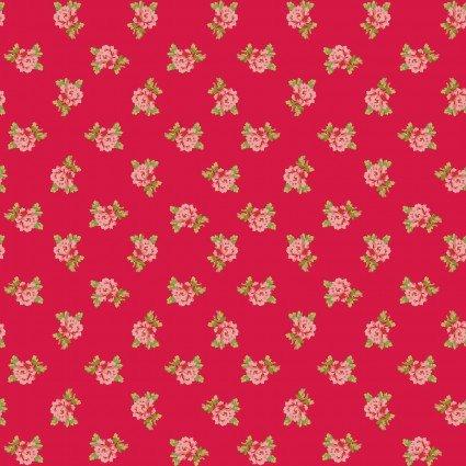Sweet Beginnings Spaced Floral Red