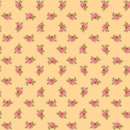 Sweet Beginnings Spaced Floral Yellow