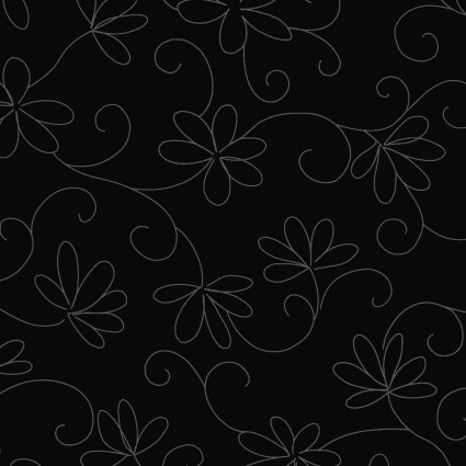 In The Black Floral Tone on Tone