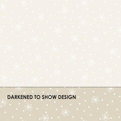 Maywood Studio Solitaire Whites - Soft White MAS312-SW Daisy Dot