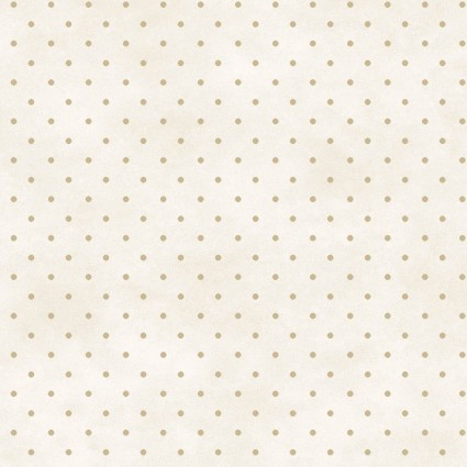 Beautiful Basics -cream w/ tan dot