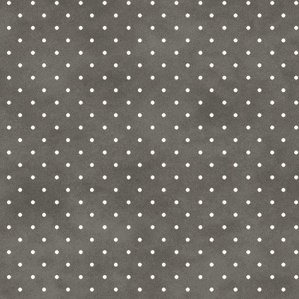 Beautiful Basics Dark Gray Dot Fabric Yardage MAS609-KA2