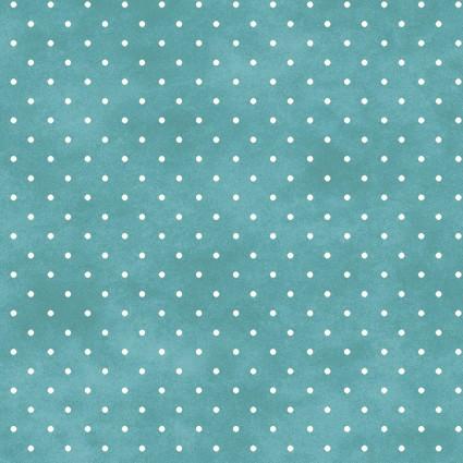 Maywood Studio Beautiful Basics MAS609-QQ Aqua with white dot