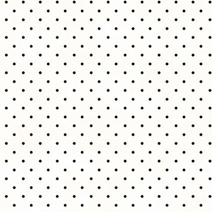 Kimberbell Beautiful Basics MAS609-WJ  - Classic Dot- White/Black