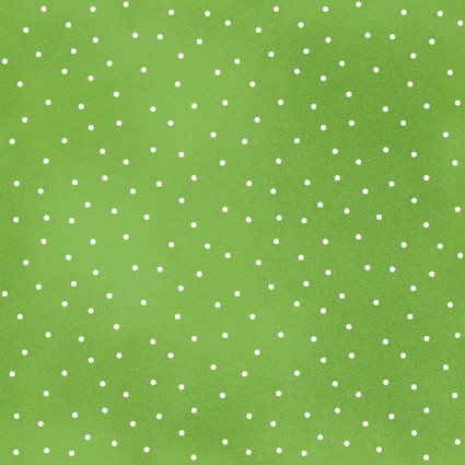 Beautiful Basics Spring Green Scattered Dot