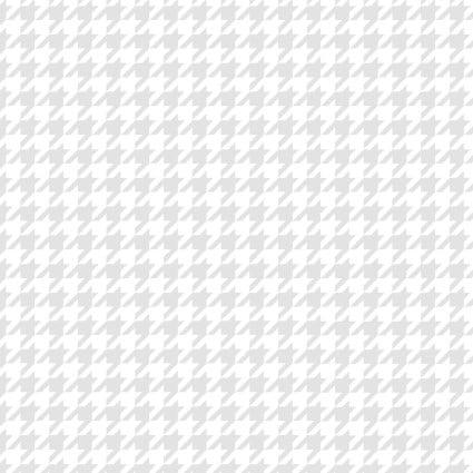 Kimberbell Basics - Houndstooth #8206-WW (white on white)