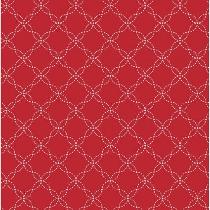 Kimberbell Basics Red Lattice Fabric
