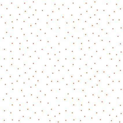 Kimberbell Basics Tiny Dots White/Orange, 8210-WO