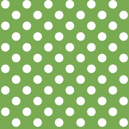 Kimberbell Basics Green Polka Dot Fabric