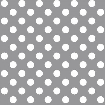 Kimberbell Basics Gray Polka Dot Fabric