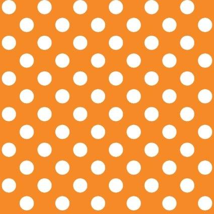 Kimberbell Basics Orange Polka Dot Fabric
