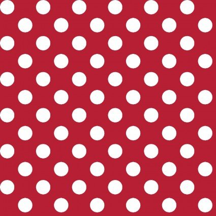 Kimberbell Basics Red Polka Dot Fabric